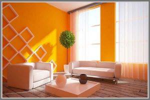 ruangan warna oranye